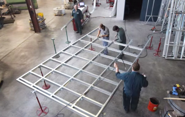 Watch us assemble a steel frame
